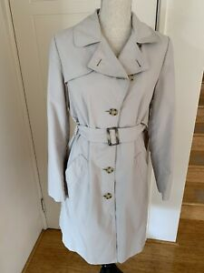 Marks and Spencer Lightweight Belted Mac Trench Coat Beige Sz 10