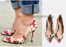 ZARA Floral Multicoloured LEATHER High Heel Shoes 5 38 BNWT  REF: 5810 101