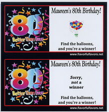 75th 80th 85th 90th  birthday party favors scratch-off game