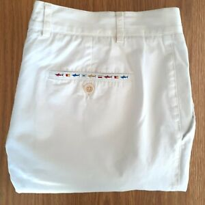 Paul & Shark Size 42 White Cotton Shorts Mens Yachting