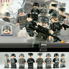 8pcs German Military WWII Soldiers Figures Building Blocks Fit Big Brands UK