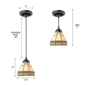 Tiffany Stained Glass Pendant Lighting Victorian Style Ceiling Lamp Fixture