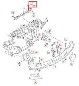 Audi R8 42 Rear Bumper Center Mounting Bracket 427807215A NEW GENUINE 2015