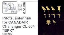 Mini World Models 1/72 CANADAIR CHALLENGER PITOT TUBE & ANTENNA Metal Set