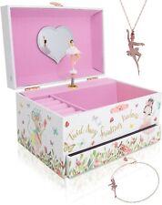 New Beautiful Designed Ballerina Music Box Little Girls Jewelry Set For Girl