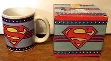 SUPERMAN Ceramic Mug/Cup ENESCO DC Comics WITH BOX RARE HTF
