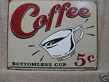 Coffee Vintage Look Kitchen Decor Tin Metal Sign CHIC New