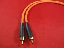 Canare GS6, GS-6 RCA to RCA Audio Cable 1.5 Ft, ORANGE.