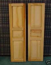 Doll House wooden shutters 1 1/4'' wide, 4 5/8'' tall