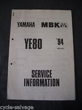Yamaha YE 80 4MU 1994 Service Information Werkstatt Handbuch Informationen