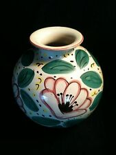 DERUTA ITALY MAJOLICA HAND CRAFTED PAINTED FLORA VASE LARGE