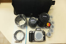 Nikon N75 Camera with Lenses and Case