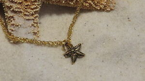 Starfish Anklet Ankle Bracelet 24 Karat Gold Plate Sea Ocean Beach Summer