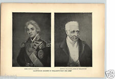1899 Historical Portraits Lord Nelson Arthur Wellesley  Steam Engine James Watt
