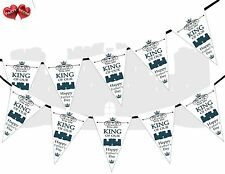 Happy Fathers Day King Of The Castle Theme Bunting Banner party by PARTY DECOR