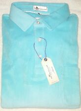 Peter Millar Terry Towel Polo Shirt Medium (NWT - $115.00) Beach Glass Blue
