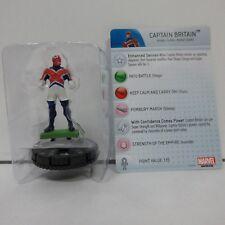 Marvel HeroClix Captain Britain Promo #M-023 Figure w/ Card E03