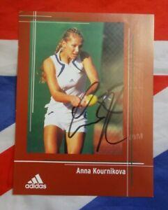 Anna Kournikova Signed Adidas Tennis Card