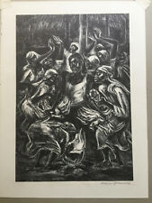 """Original Lithograph  By MARION GREENWOOD- """"VOODOO RITUAL"""" Published By AAA"""