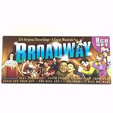 Broadway Musicals 8 CD Boxed Set 154 Original Recordings South Pacific Oklahoma