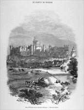 ANGLETERRE - LE CHÂTEAU de WINDSOR - Gravure du 19e siècle