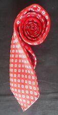 HILDITCH & Corbata Seda clave en Rojo Azul Y Blanca cuadrados en plazas casi como nuevo-Cond