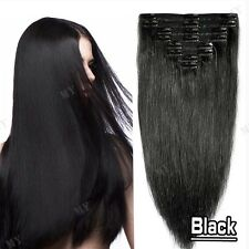 "10""-24Inches Cheap 100% Clip In Real Remy Human Hair Extensions Full Head BS000"