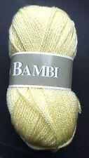 1 ovillo de lana canastilla muy suave amarillo limón / Hecho en francia