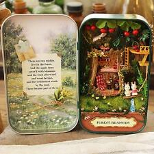 DIY Dollhouse Miniature 3D Doll House Box Theatre Wooden Puzzle Forest Rhapsody