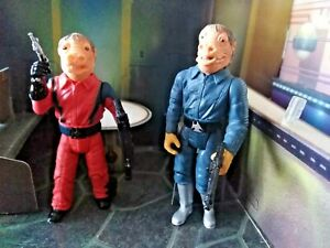 STAR WARS Power Of The Jedi ZUTTON red & blue snaggletooth toy action figure lot