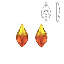 Swarovski 2205 Hotfix Flame Crystals Fire Opal 10mm Pack of 2 (K69/13)