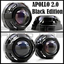 """2x Black Apollo 2.0 Flat HID LED Retrofit Projector Shroud 2.5"""" & 3"""" projectors"""