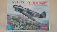 1/48 scale ICM Models Yak-7DI / Yak-9 ( Early ) WWII Soviet Fighter