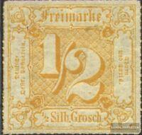 Thurn und Taxis 47 mit Falz 1867 Ziffer