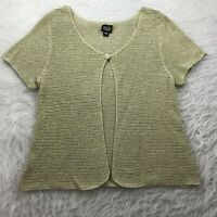 Eileen Fisher Women's Size Small Cardigan Sweater Thin Knit Linen Short Sleeve