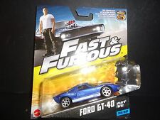 HOT WHEELS Ford GT40 BLU FAST AND FURIOUS 1/55