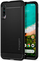 Xiaomi Mi A3 Case | Spigen® [Rugged Armor] Matte Black Shockproof Slim Cover