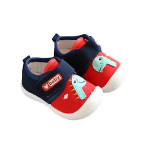 Baby Boys Girls Newborn Toddler Non-Slip First Walkers Crib Shoes 0-18 Months