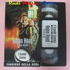 film VHS cartonata ROBIN HOOD Kevin Costner Morgan Freeman  1991  (F36*)  no dvd