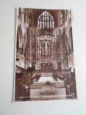 Vintage Real Photo Postcard TOMB OF RUFUS+REREDOS WINCHESTER CATHEDRAL  §A1235