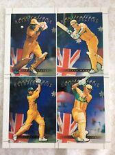 1996 Futera Cricket Retrospective Uncut Sheet