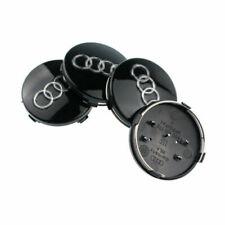 4 x 60mm Schwarz Alufelgen Nabendeckel Felgendeckel für Audi 4B0601170 DE