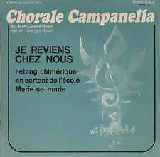 """7"""" FRENCH EP 45 TOURS CHORALE CAMPANELLA Je Reviens Chez Nous +3"""" 1970 LEO FERRE"""
