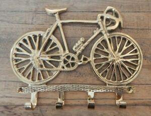 4 Brass key hooks Bicycle bike