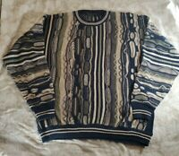 Vintage 90's Protege Collection Coogi Style Biggie Bill Cosby Sweater Sz Large