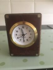 Vintage Wooded Quartz Mercedes Clock Made in Germany