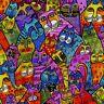 Laurel Burch Feline Frolic Packed Cats Multi Colors w/Metallic Y2798-55M BTY
