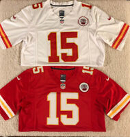 Patrick Mahomes Kansas City Chiefs #15 Super Bowl MEN'S Sewn White or Red Jersey