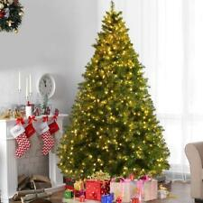 6ft Green 700 Pines Artificial Christmas Xmas Tree w/ 100 LED Warm White Lights