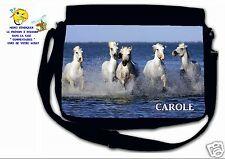 Sac bandoulière moyen modèle cheval camargue réf 36 personnalisé avec prénom